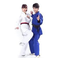 Kimono Jiu Jitsu Judo White/Blue Uniform with FREE BELT