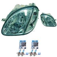Scheinwerfer Set Mercedes SLK R170 Bj 96-04 klar/chrom mit Blinker H4+H4 1366174