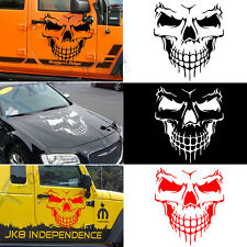 "Skull Hood Decal Large 22"" Graphic Sticker for Truck Jeep Car Trailer Boat Vinyl"