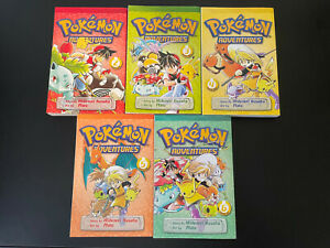 Pokemon Adventures English manga vols 2-6