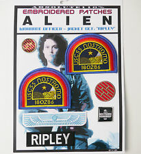 "ALIEN / ALIENS  ""RIPLEY"" Jacket Patches - Iron-On Patch Mega Set #01 - FREE POST"
