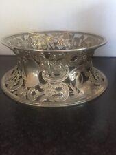 Antique Irish Silver , Superb Large Irish Georgian Silver Dish Ring C18