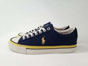 POLO RALPH LAUREN scarpa bassa in tela - SAYER - blu/gialla