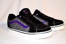 VANS Transistor Skate Shoes SIZE US 5 Eur 36.5 Purple Gray Black Leather Sneaker