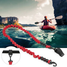 Elastic Paddle Leash Kayak Canoe Safety Fishing Rod Rowing Boats Lanyard U4Z0