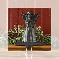 Vintage Angel Christmas Stocking Holder Hanger Heavy Cast Iron Park Designs