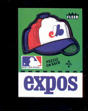 1982 Fleer MONTREAL EXPOS Team Hat Green Sticker