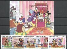 Walt Disney, Twain - Grenada - 1417-1421, Bl.147 ** MNH 1985