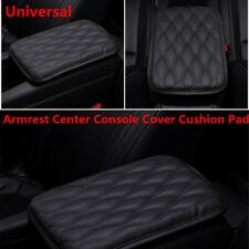 Black Universal Car SUV Armrest Pad Cover Auto Center Console PU Leather Cushion