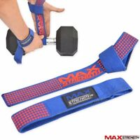Weight Lifting Training Gym Barbell Bar Straps Padded Wrist Support Hand Wrap
