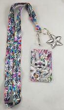 Loungefly Disney Lilo & Stitch Rainbow Watercolor ID Lanyard Neckstrap W/ Charm