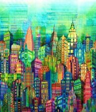 Hoffman Digital Full Spectrum Print Skylines Cityscape N4234-130 Multi BTY