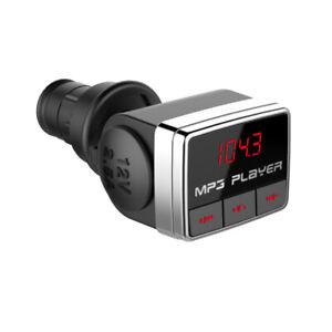 Bluetooth FM Transmitter Hands-free Car Kit TF USB MP3 Player Cigarette Port