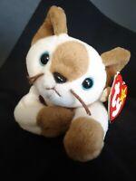 TY Beanie Baby Siamese Cat Plush Snip Stuffed Animal Blue Eye Kitten Kitty 1990s