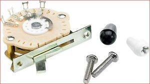 Genuine Fender 5-Way Selector Switch For Stratocaster Guitar Incudes Two Tips