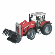 Bruder Massey Ferguson 7480 1:16 Scale Model Tractor With Loader Collectable