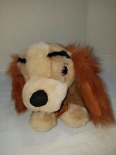 """Disney Store 12"""" LADY Dog Laying Down Soft Plush Bean Bag Lady And The Tramp"""