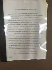Frank Zappa Signed Document Contract Autograph Rare Mothers Of Invention