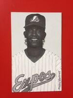 ***RARE 1995 MONTREAL EXPOS WINTER CARAVAN PEDRO MARTINEZ B&W PHOTO POSTCARD***
