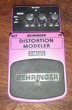 Behringer DM100 Distortion Modeler Guitar Effects Pedal Tested Working
