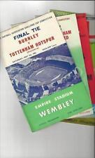 FA Cup Teams A-B Burnley Final Football Programmes