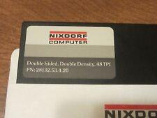 RARE PAIR Floppy Diskette Vintage Computer ENTREX NIXDORF Rare Collectible