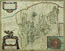NÜRNBERG - Territorium Norimbergense - Willem Blaeu - kolor. Kupferkarte 1644