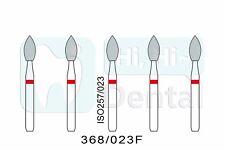 Dental Diamond Burs FG Pointed Football 368/023F Fine Grit High Speed 50Pcs