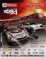 24h Spa Francorchamps Rennprogramm Programmheft 2014 7/14 Official Programme