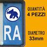 Kit 4 ADESIVI PER TARGA METZELER plate auto moto Europa custom stickers decals