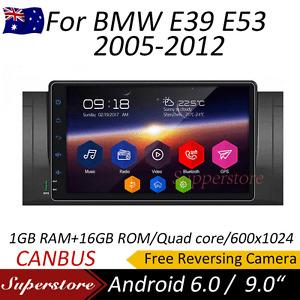 """9"""" Android 9.1 Quad core GPS Nav Car Multimedia player For BMW E39 E53 2005-2012"""