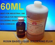 60ml  Liquid Rosin Flux for Leaded & Lead Free Solder 60 ml