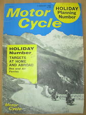 VINTAGE MOTOR CYCLE MAGAZINE 3rd FEBRUARY 1966 ROYAL ENFIELD GT SERVICING