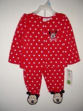 New listing New Minnie Mouse Baby Pajama Size 6-9 Months Red White Polka Dots Disney