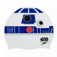 SPEEDO SWIM CAP CHILDRENs STAR WARS R2-D2  KIDS 6-14 YEARS OLD SILICONE