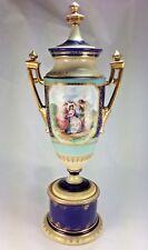 Antique Large Elegant  Royal Vienna Porcelain Portrait or Cabinet Vase