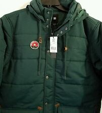 NWT EXTRA LARGE  mens DC shoes YC Rainier Green lightweight coat jacket WM12C XL