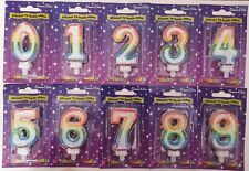 AGE BIRTHDAY CANDLE NUMBER GLITTER CANDLE MULTICOLOURED TOPPER