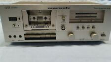 Vintage Marantz SD3000 2-Speed Recordable Cassette Deck AS IS For Parts/Repair