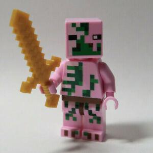 Zombie Pigman 21139 21122 21130 Gold Sword Minecraft LEGO® Minifigure