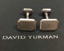 Handsome David Yurman Sterling Silver Cufflinks