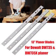 """3PCS 13"""" Inch HSS Planer Blades Cutter For Dewalt DW735 & DW735X Replaces Set"""