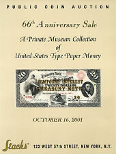 American US type Paper Money Bank Note - Stack's Auction Catalog Auction Book