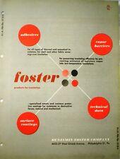 Benjamin Foster Catalog ASBESTOS Adhesives Mastics for Insulation 1954
