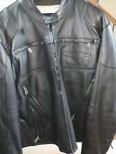 Harley Davidson Mens  FXRG Triple Vent Leather  jacket XL W Rain Liner