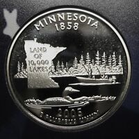 2005-S Minnesota Gem DCAM Clad Proof State Quarter Stunning Coin  DUTCH AUCTION