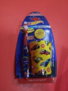 Hotwheels Childrens Toothbrush Set Travel Set *Yellow*