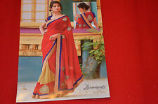 NEW Indian Designer synthetic Ethnic Traditional Saree-with Border