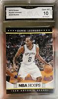 2012 Panini NBA Hoops Kawhi Leonard Rookie Card  Gem Mint 10 Clippers MVP