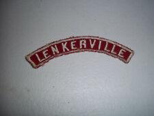VINTAGE BSA BOY SCOUTS LENKERVILLE RED WHITE COMMUNITY STRIP PATCH